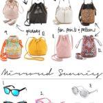 Bucket Bags & Mirrored Sunglasses