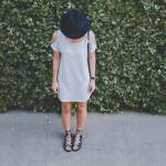 CUTOUT TSHIRT DRESS