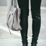How to Wear Over The Knee Boots with Jeans