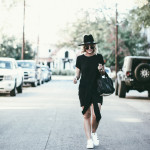 Little Black Dress + Fedora for Fall
