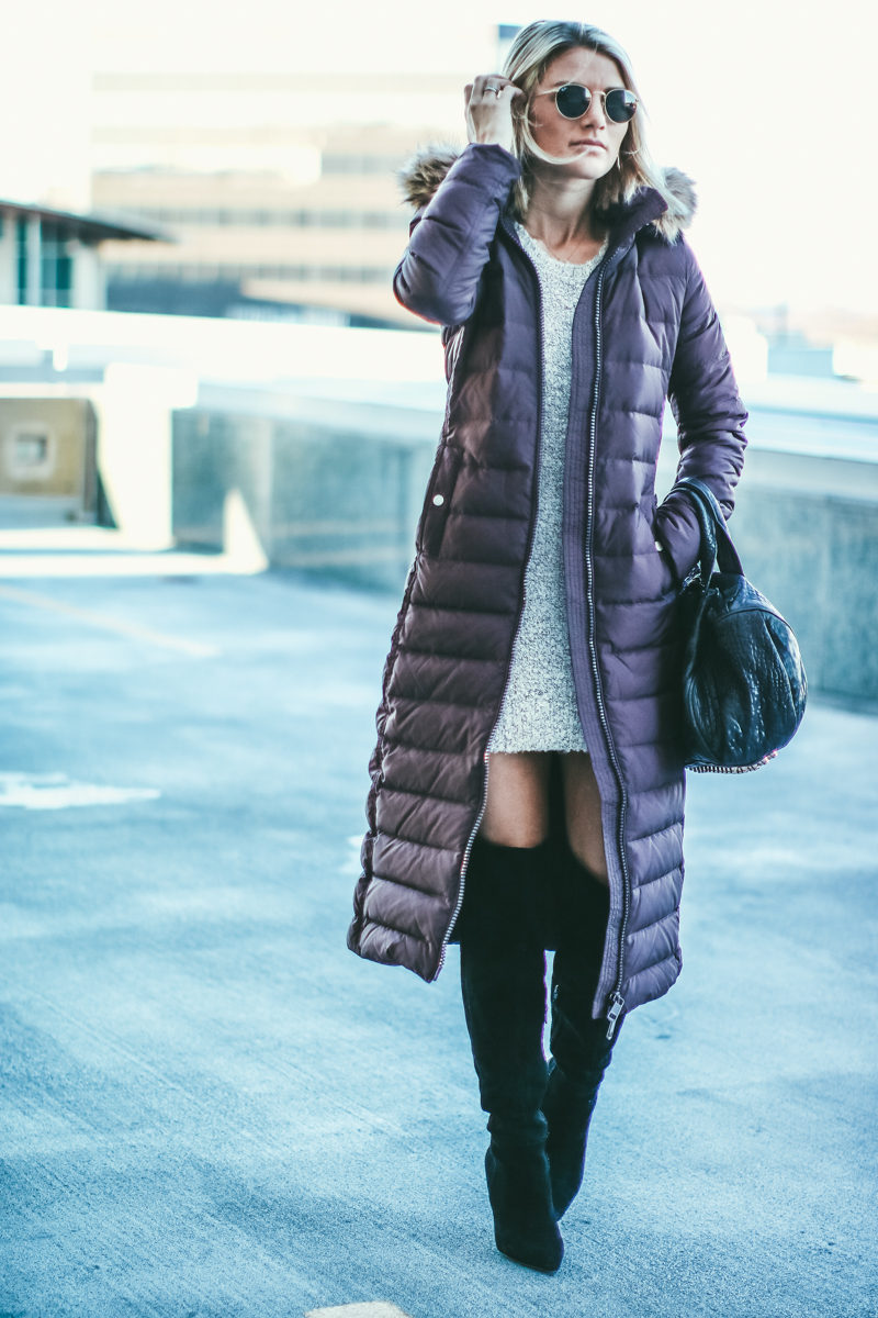 the perfect fur hooded winter down coat