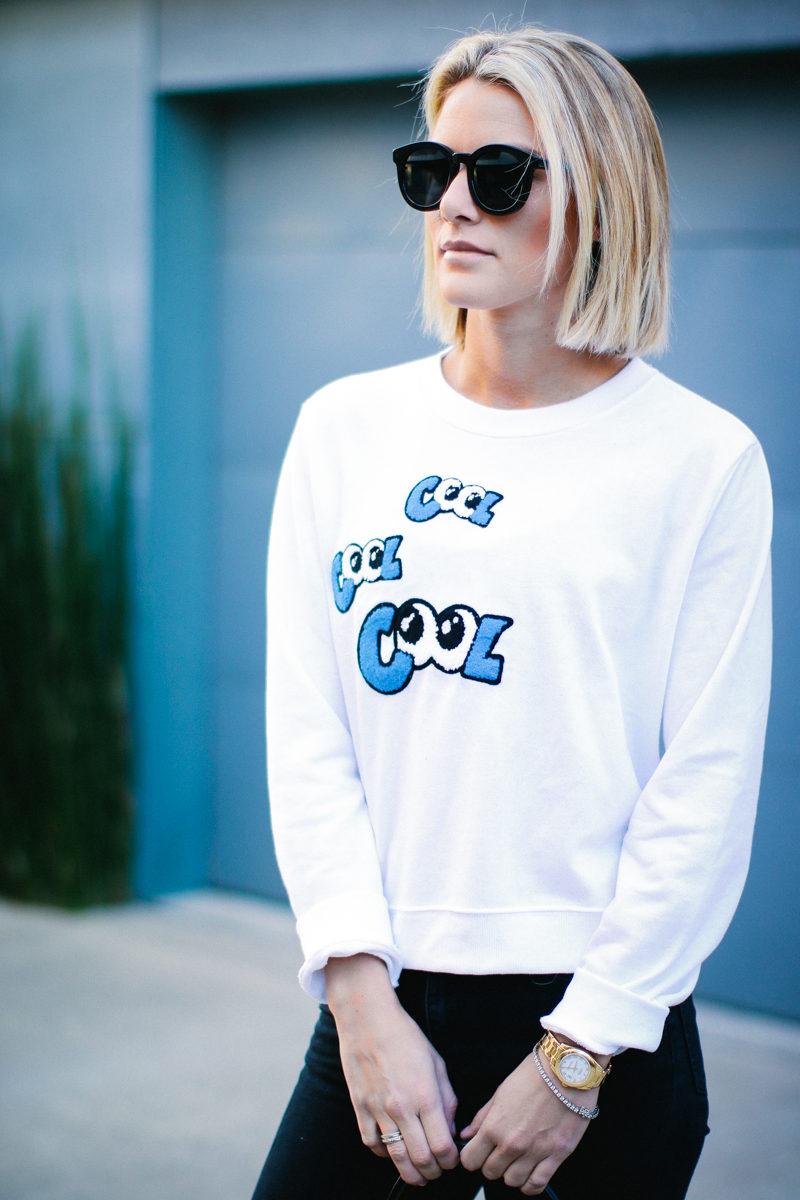 quirky 'cool' eyes sweatshirt