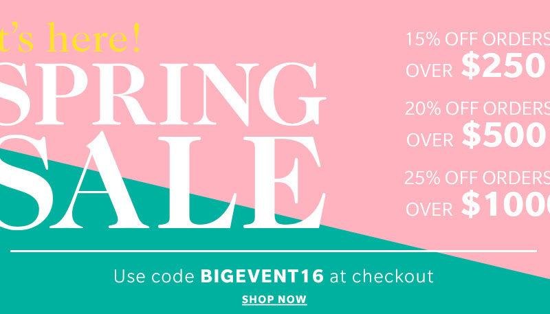 shopbop spring sale 2016