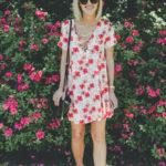Dallas Arboretum + Lace-Up Shift Dress