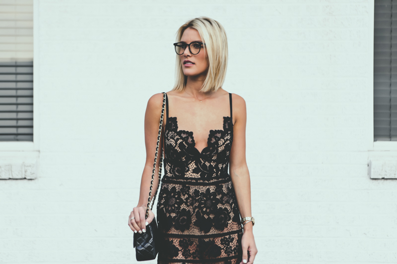 black lace dress for love and lemons