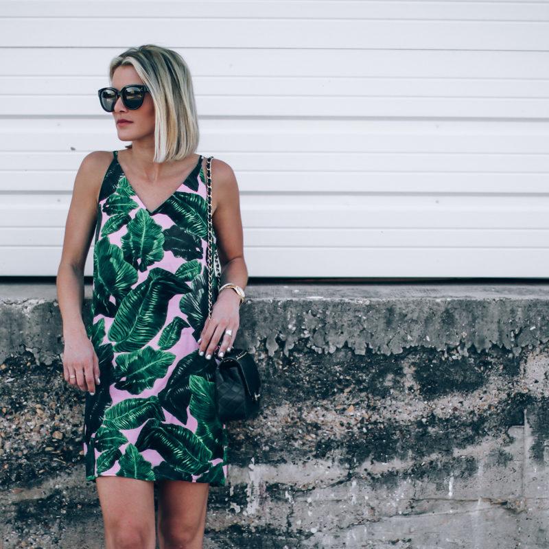 palm print dress on So Sage
