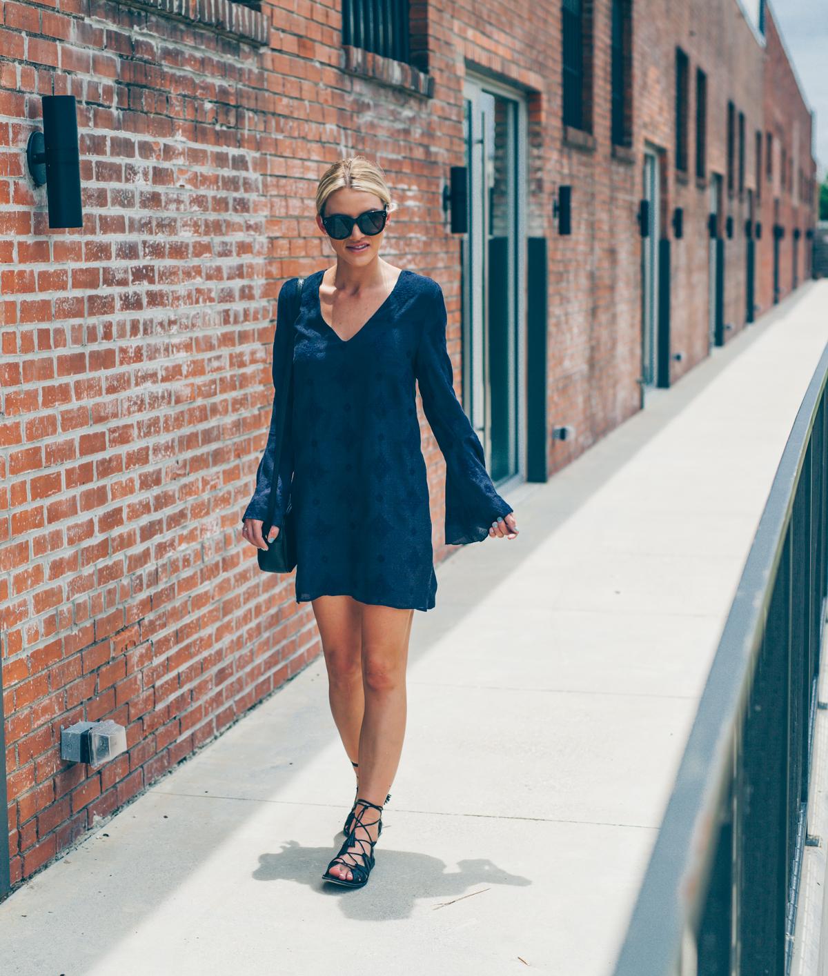 cute-bell-sleeve-dress