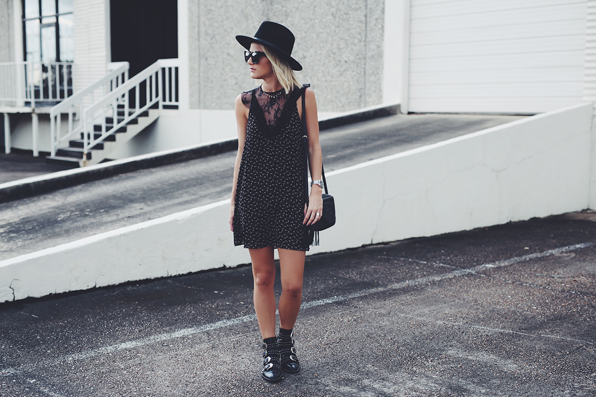 floral and lace LBD