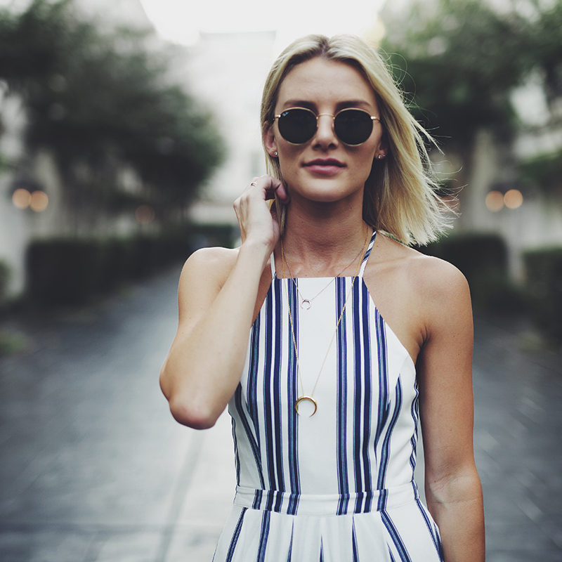 blue-white-striped-dress