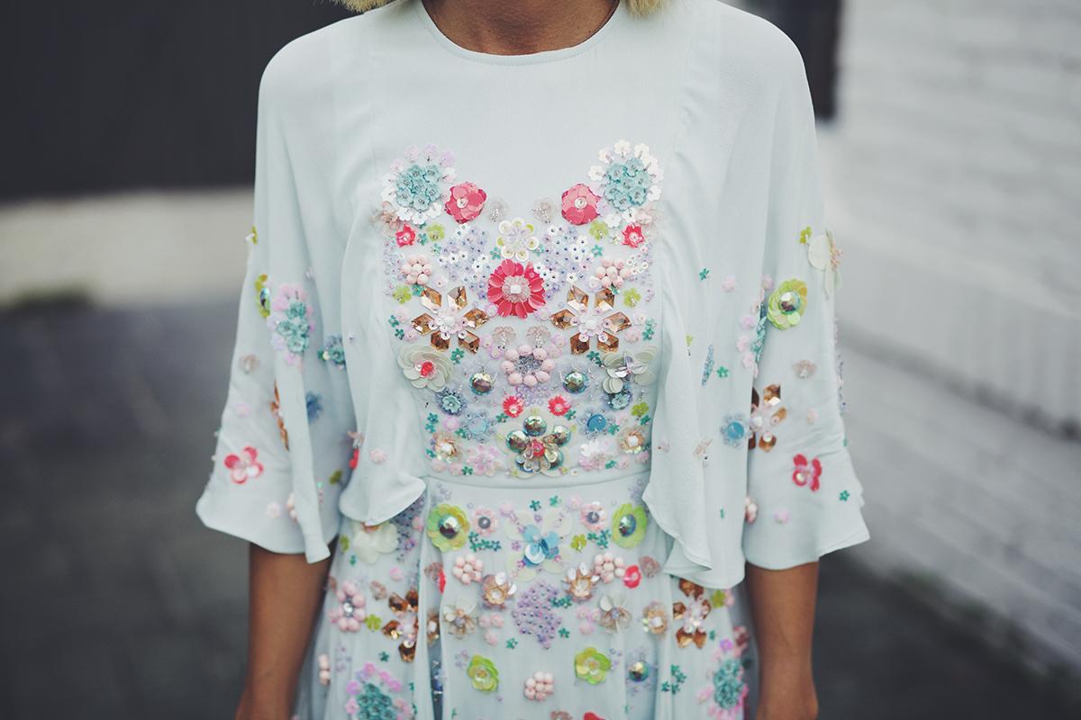 floral embellished ASOS dressses