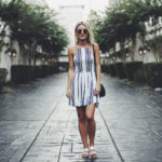 Striped Dress + Gold Baubles