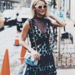 NYFW Look : Floral Applique Dress