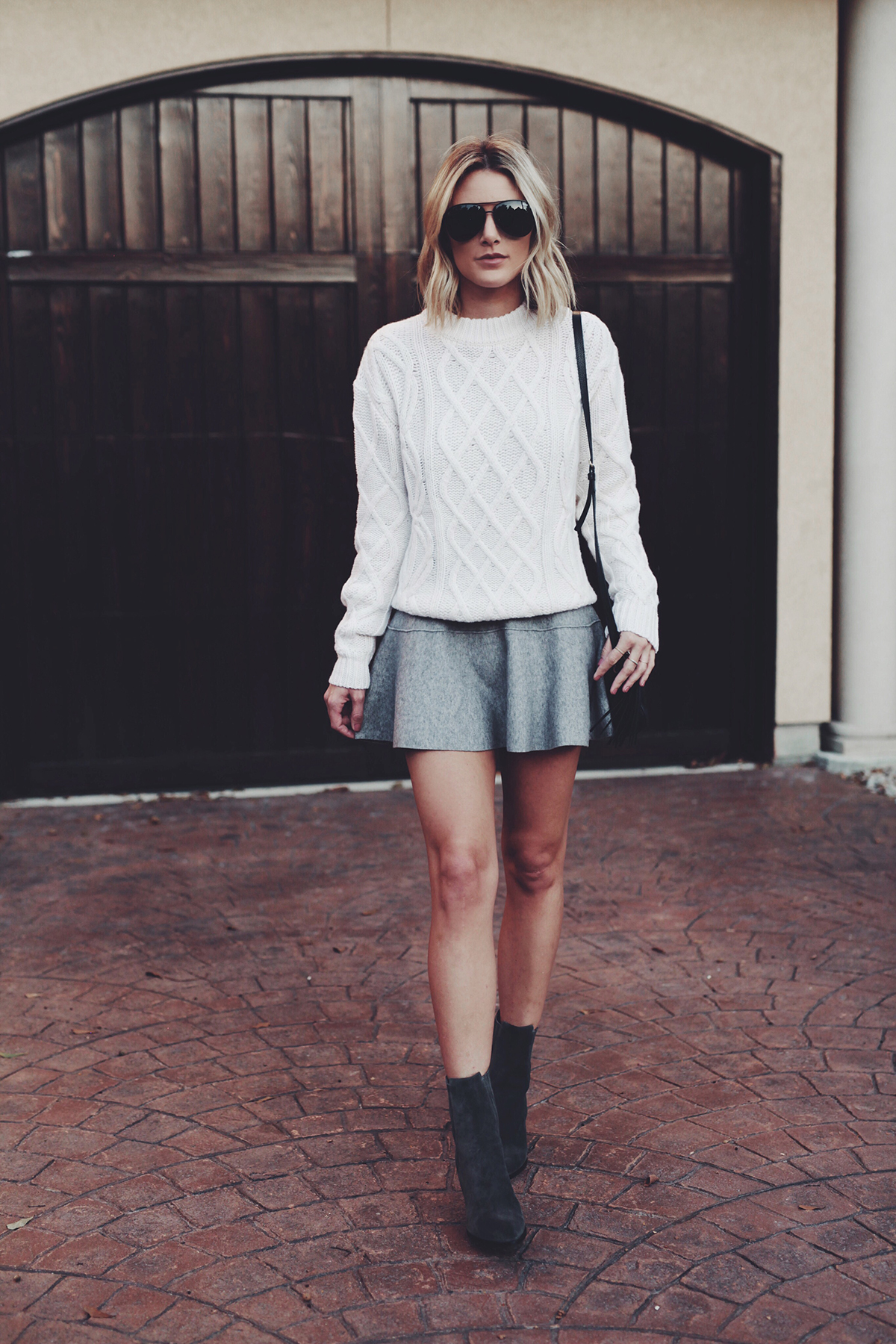 white-cable-knit-sweater-and-skirt
