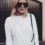 Season Staple: White Cable Knit Sweater