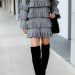 Learning to Rework Your Wardrobe: Grey Tiered Sweater Dress