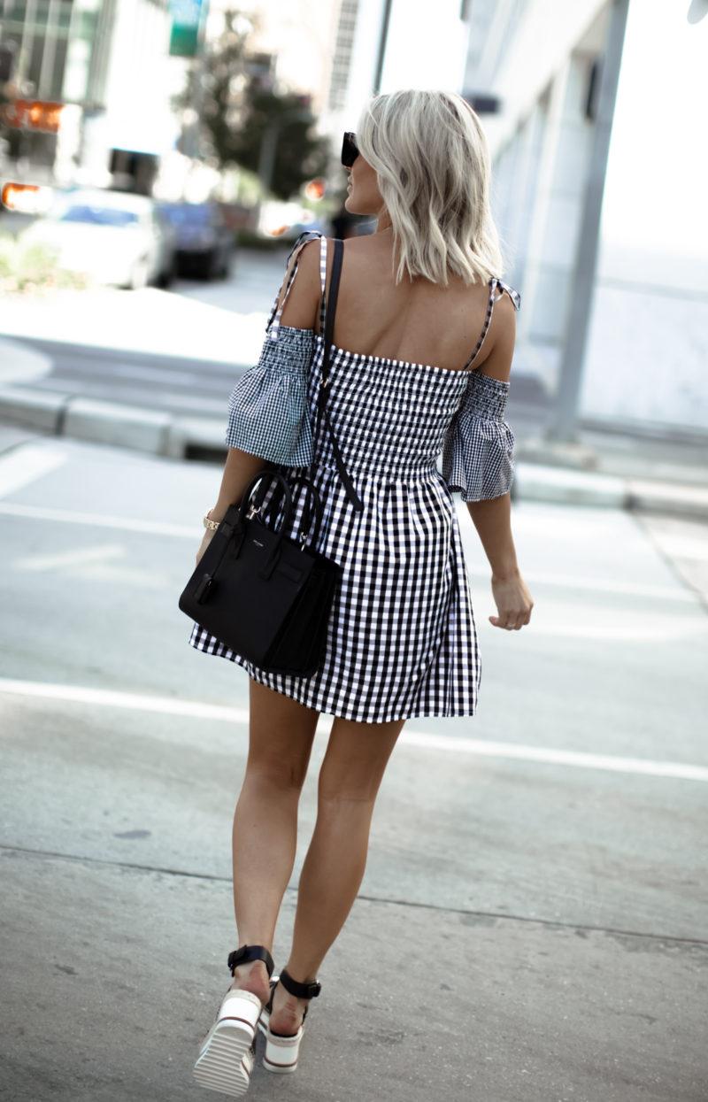 gingham brigitte dress