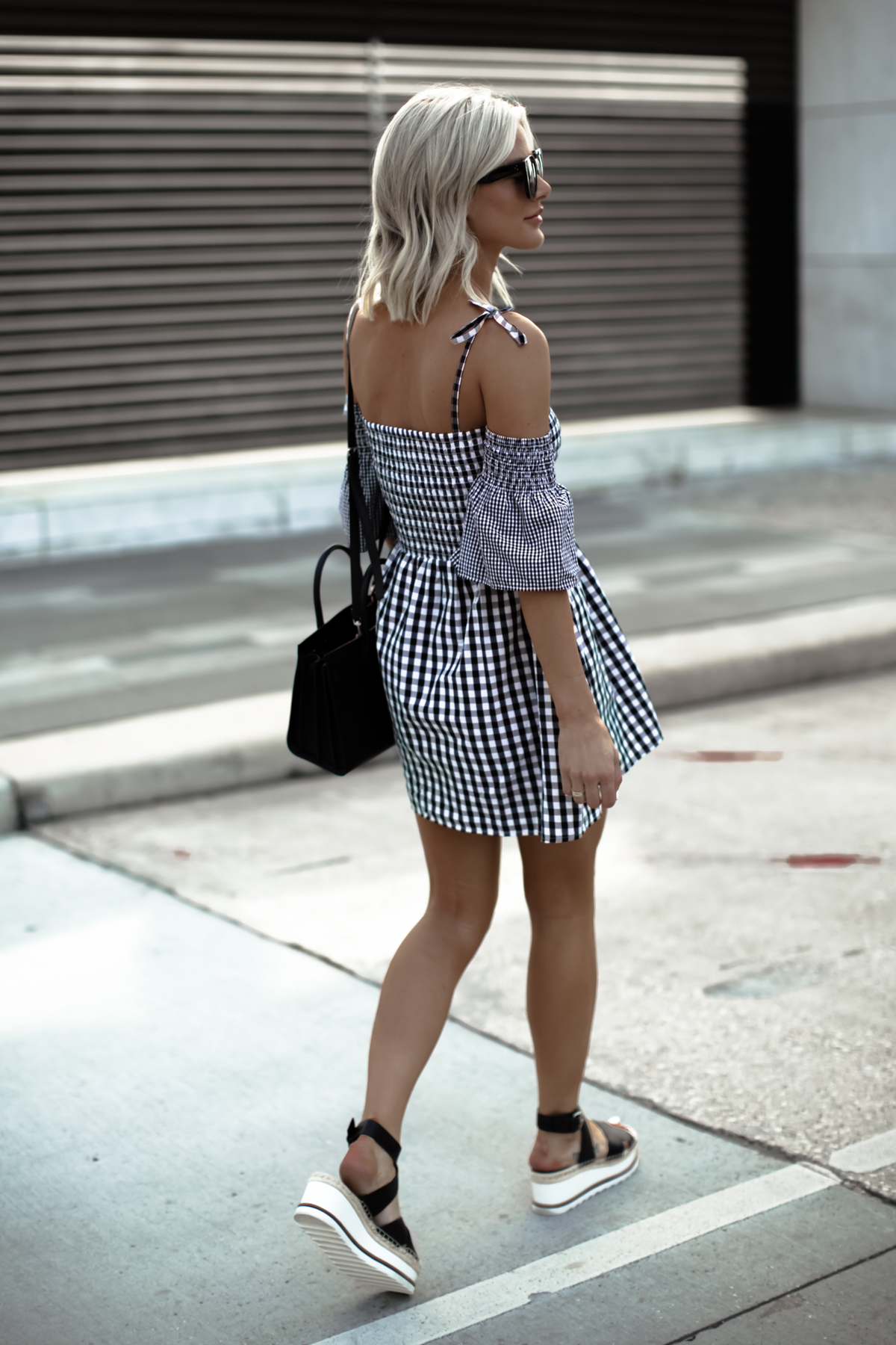 cute gingham dress outfit