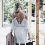 Lace Trim Cold Shoulder Dress + Day Date in the City