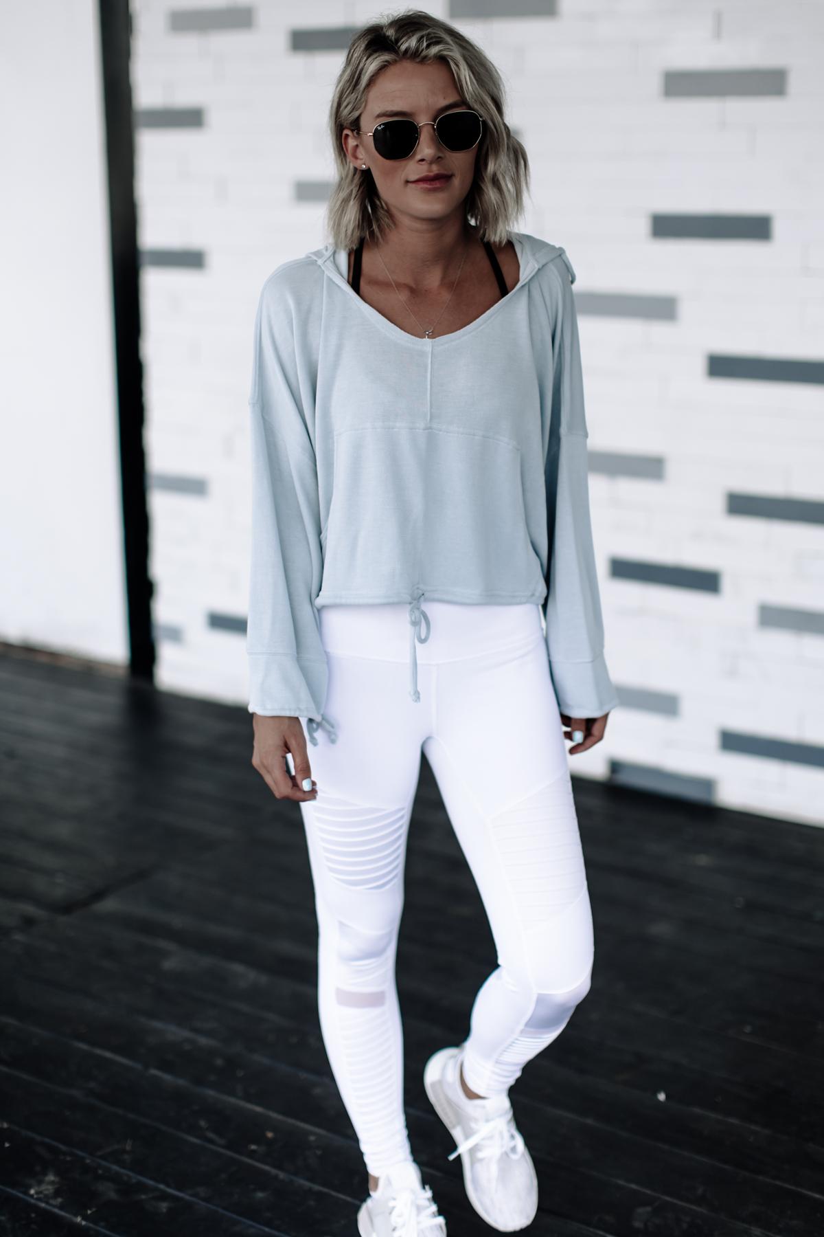 White moto leggings on Sage Coralli of So Sage Blog