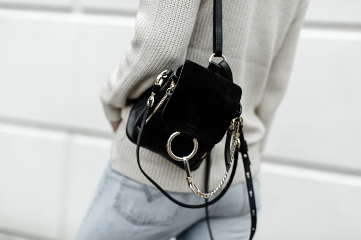 Black chloe backpack mini faye on So Sage Blog