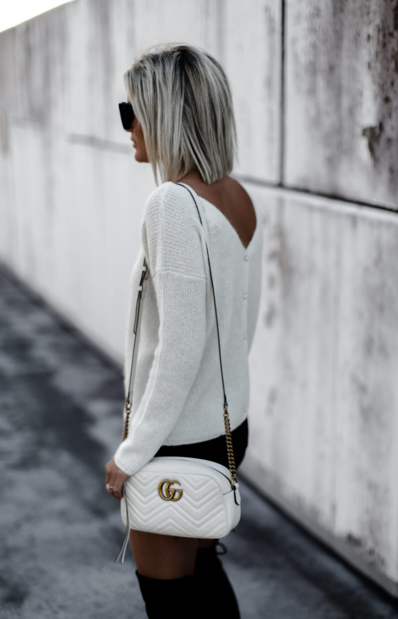 A Fall classic cream sweater on blogger So Sage