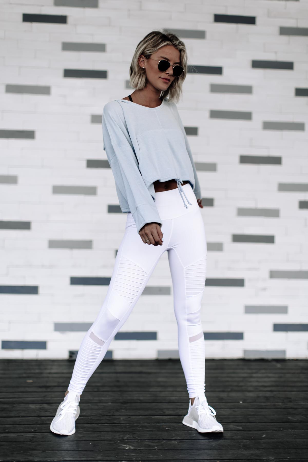 The Most Flattering White Moto Leggings On Sale
