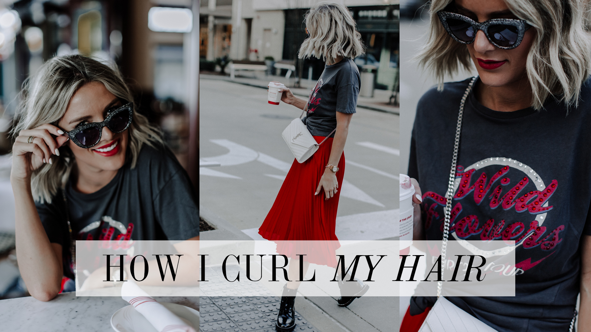 how Sage Coralli of So Sage Blog curls her hair