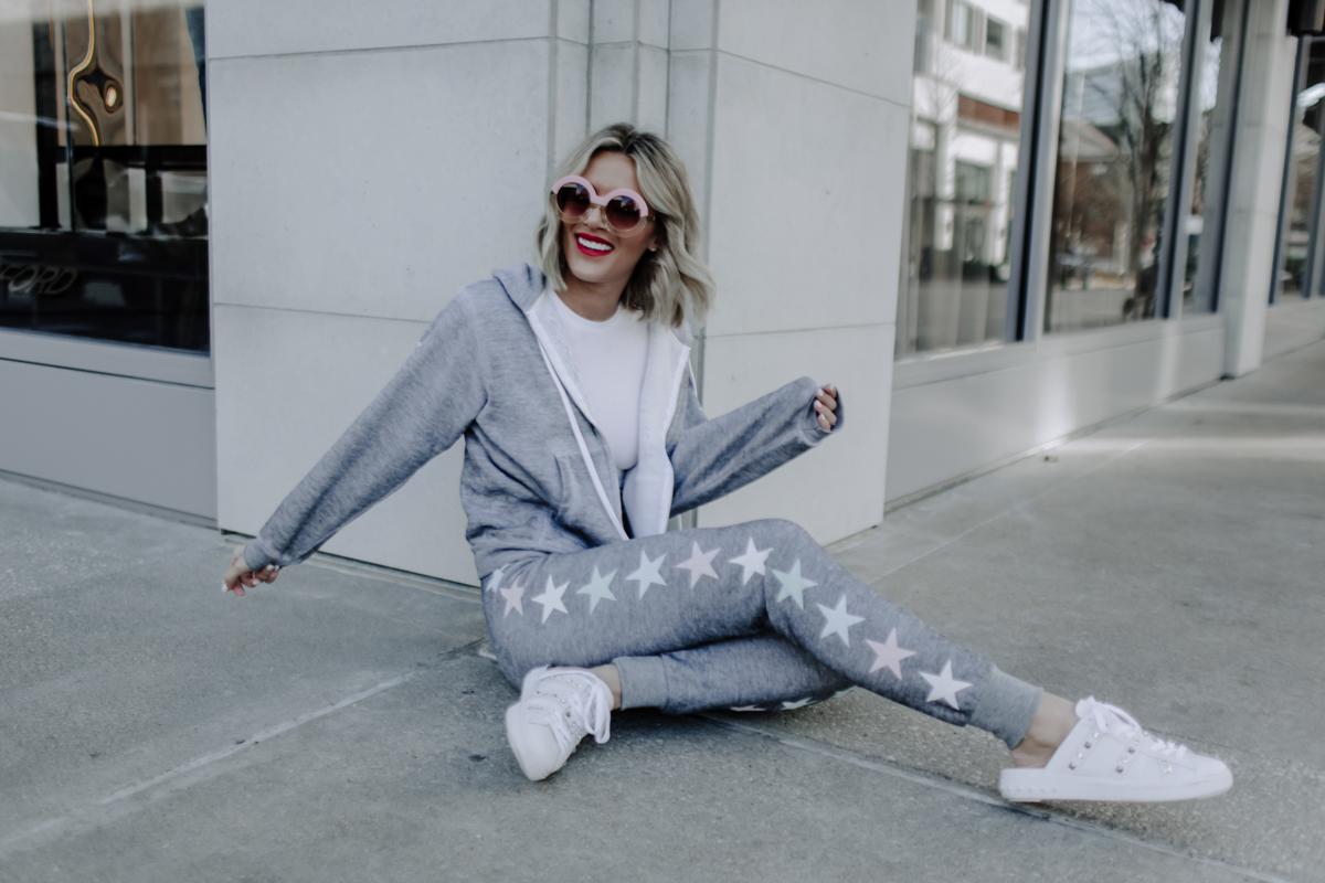 blogger Sage Coralli in Wildfox jack joggers