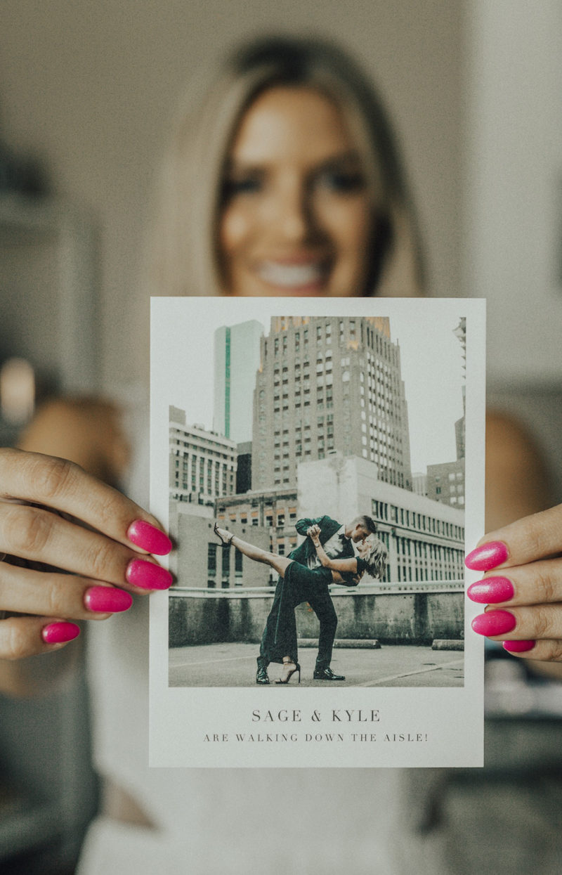 polaroid style save the dates by paper on So Sage Blog