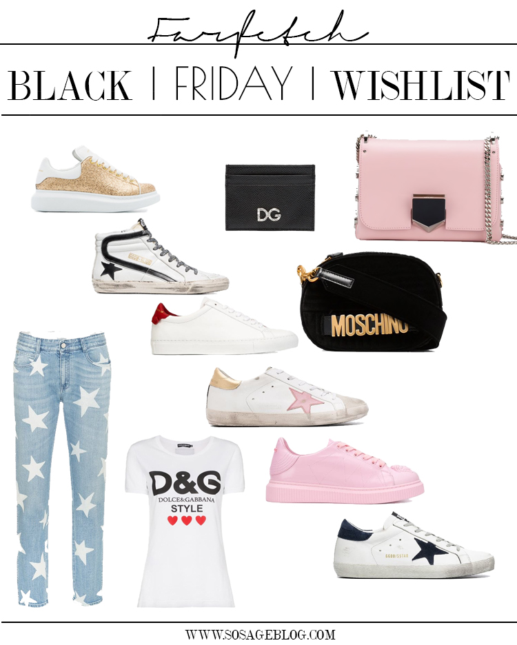 Farfetch Black Friday wish list by Blogger Sage Coralli of So Sage Blog