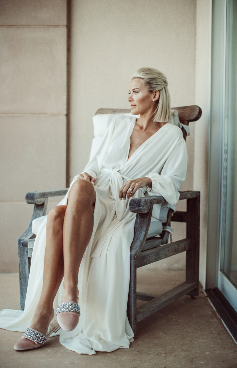 the perfect slippers for a bride to get ready in the day of her wedding on Sage Coralli of So Sage Blog