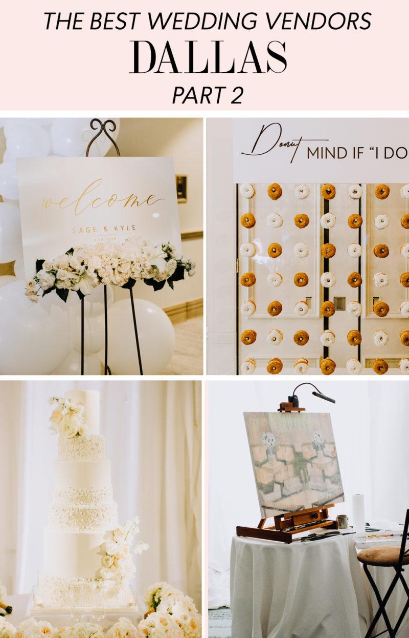 the best Dallas wedding vendors for a black tie wedding in Dallas, TX