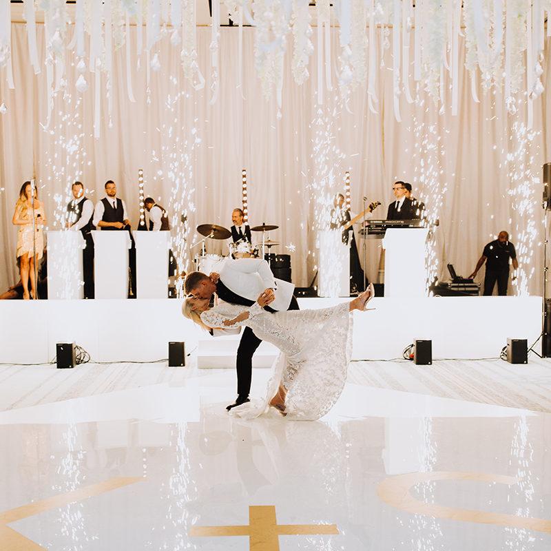 the best indoor firework wedding vendor in Dallas