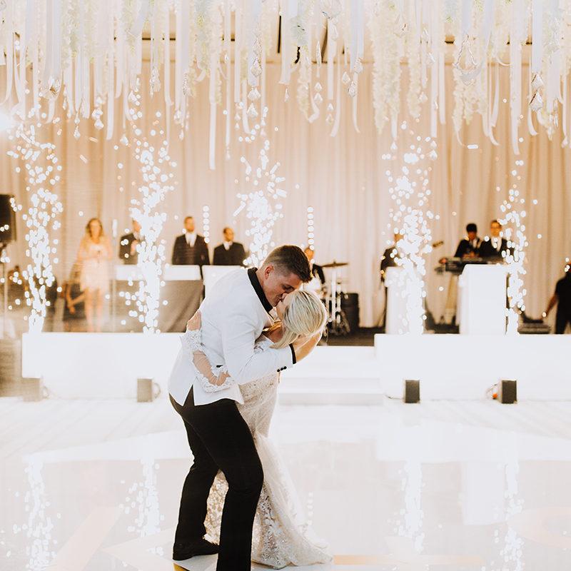 indoor fireworks for first wedding dance