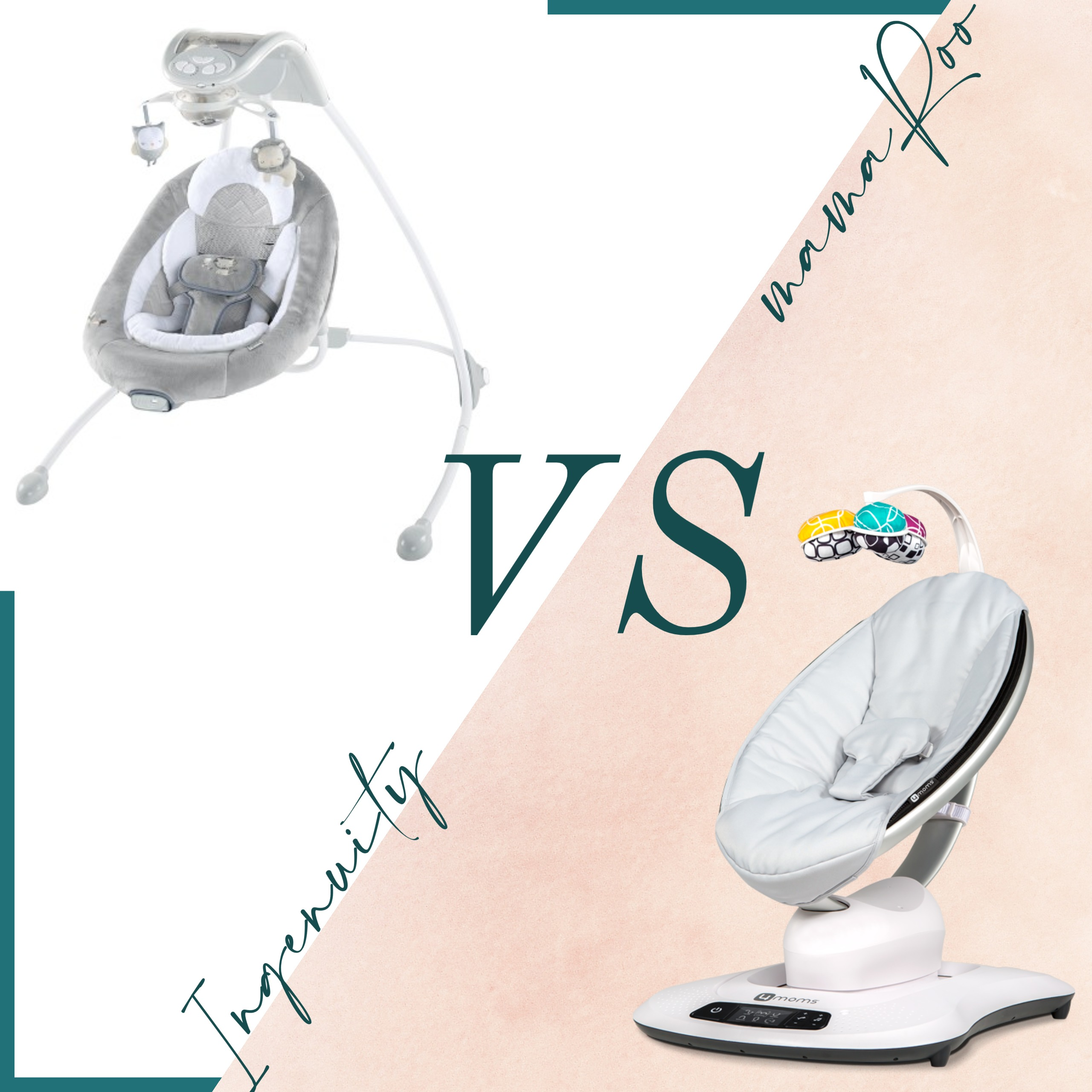mom blogger review and comparison of the ingenuity swing and 4moms mamaroo