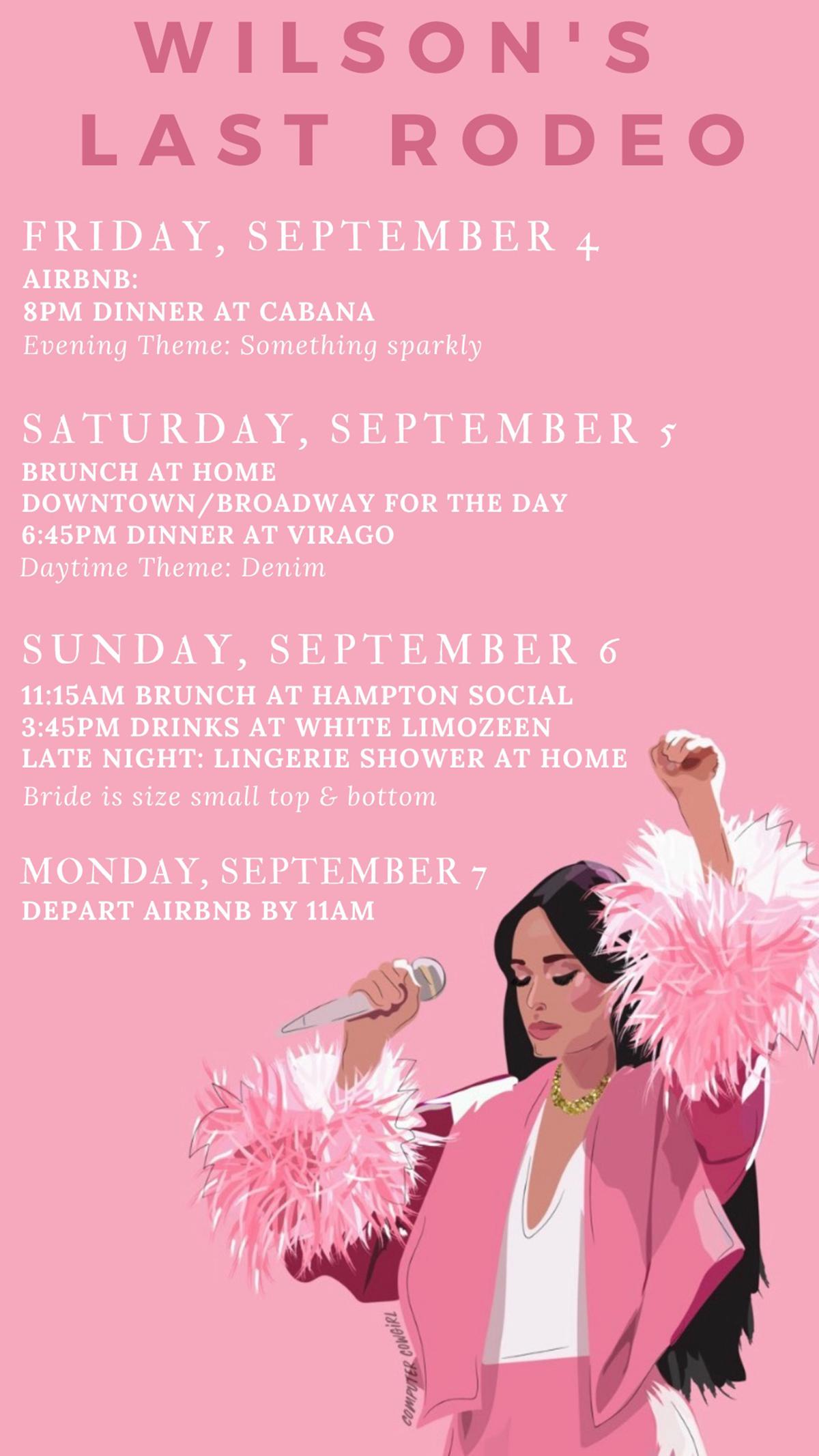 Nashville Bachelorette Itinerary