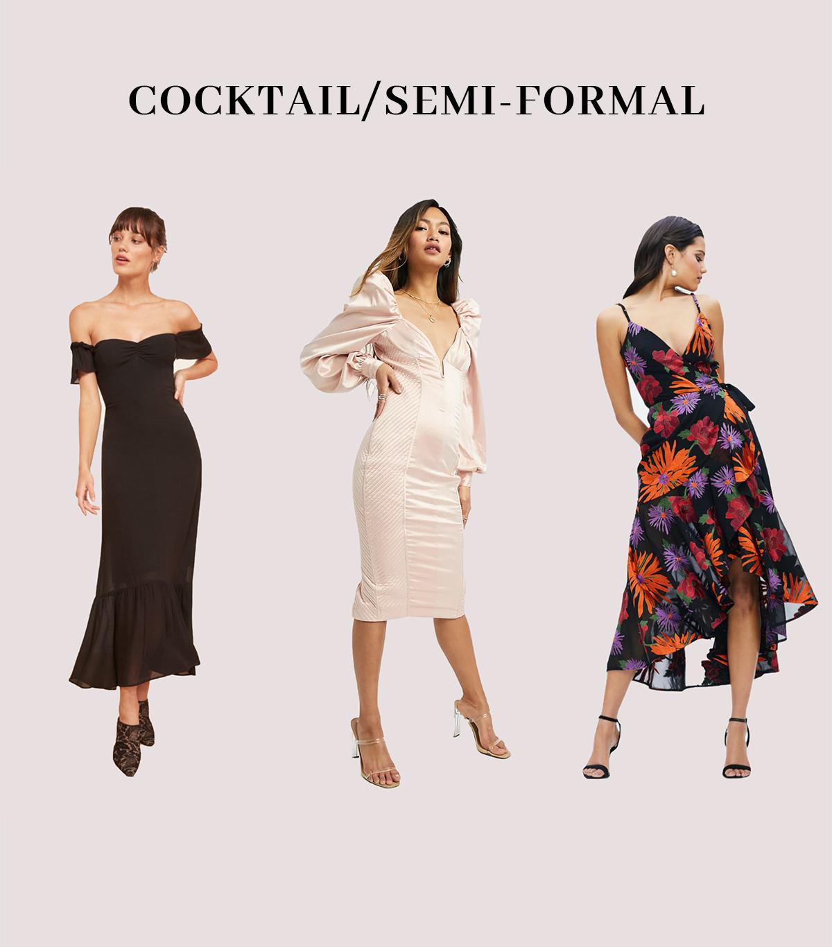 cocktail semi formal wedding guest dresses