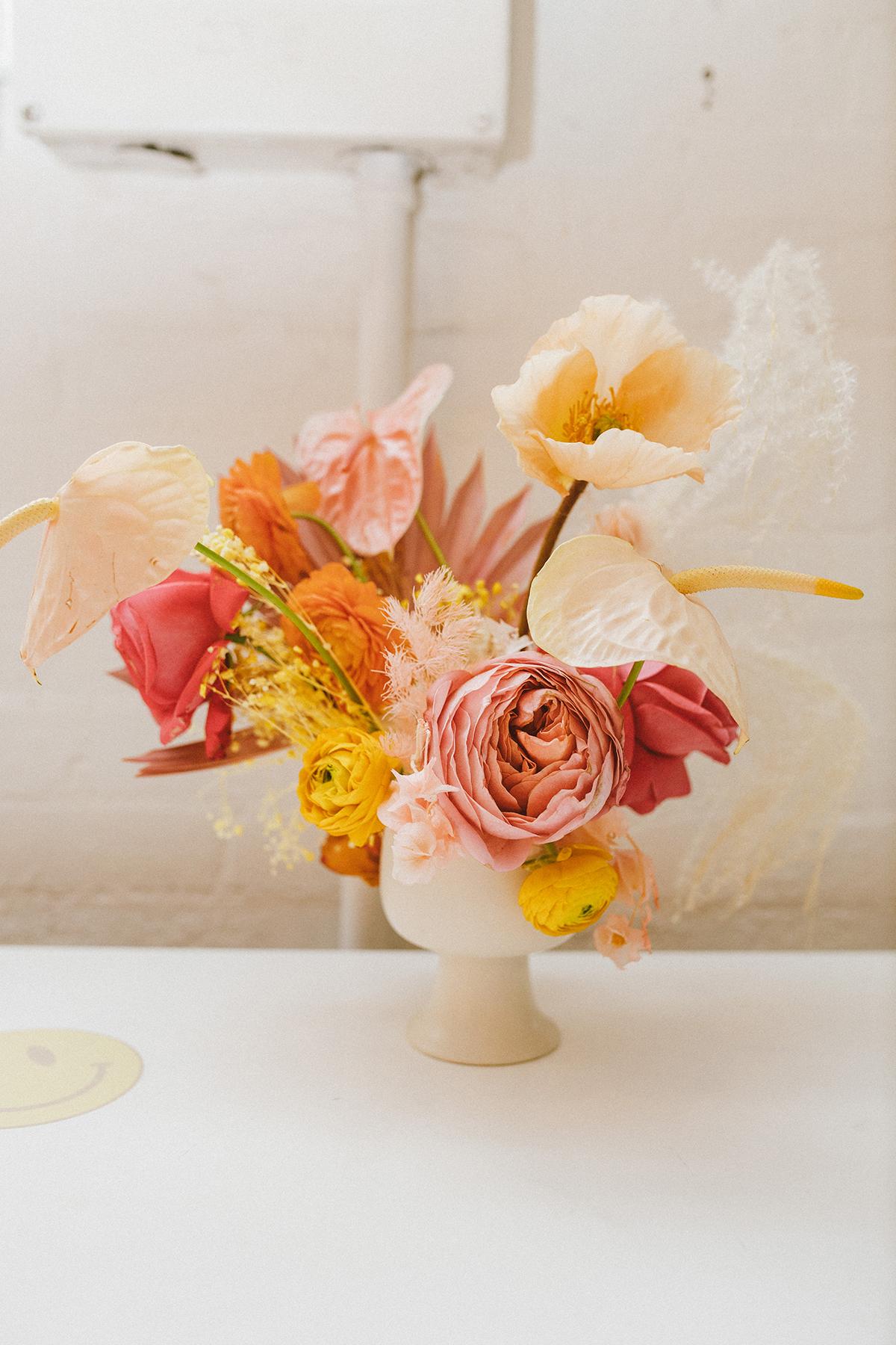 floral arranegment birthday party